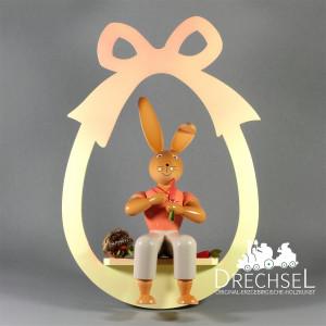 Osterhase im Ei sitzend zum Hängen, 30 cm