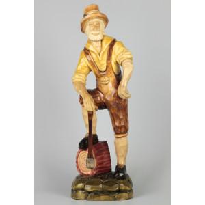 Geschnitzter Holzfäller, 45 cm