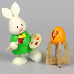 Osterhase Kaninchen Max als Maler