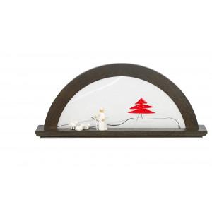 LED-Lichterbogen Farbton Mooreiche mit Glas, Tanne rot