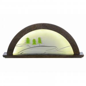 LED-Lichterbogen Farbton Mooreiche mit Glas, Tanne grün