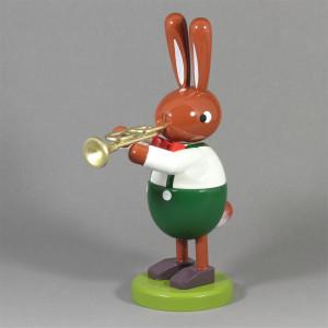 Osterhase mit Trompete, groß