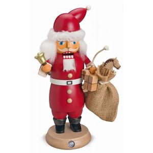 RauchKnacker Weihnachtsmann mit Glocke und Geschenkesack