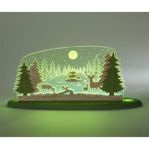 LED Motivleuchte 'Waldidylle'