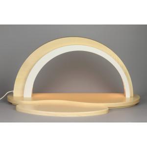Holz Design LED Schwibbogen, natur