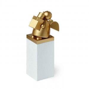 Schutzengel Gold mit Päckchen