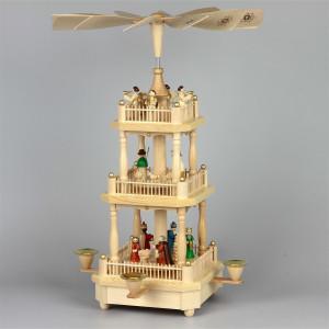 Pyramide Christi Geburt, 2-stöckig, farbig