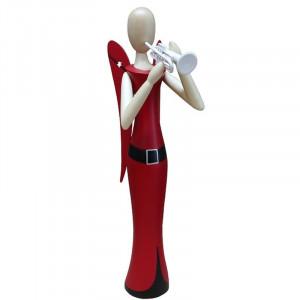 Sternkopf-Engel mit Trompete stehend