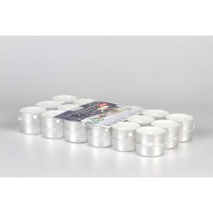 Teelichter für Pyramiden, 36 Stück, weiß, Aluminiumhülle