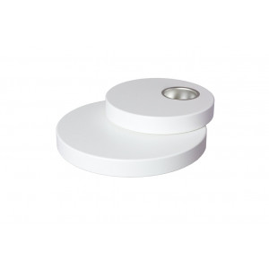 Teelichthalter doppelt 22,5 cm weiß