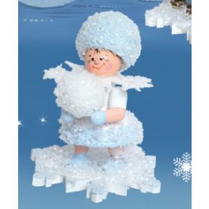 Schneeflöckchen mit Schneekugel