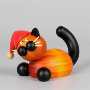 Großer Weihnachtskater Bommel auf der Lauer