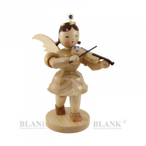 Kurzrockengel mit Violine mit Swarovski-Steinen, 20 cm