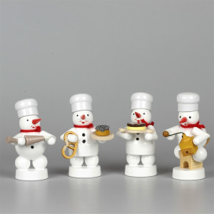 Schneemänner Weihnachtsbäckerei 5, 4-teilig