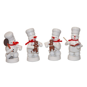 Schneemänner Weihnachtsbäckerei 6, 4-teilig