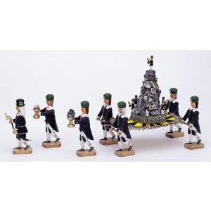 Erzpyramide mit 7 Bergleuten