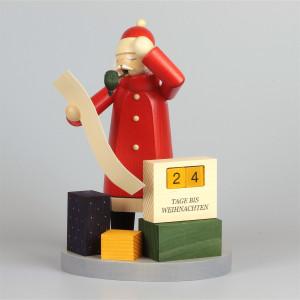 Räuchermann Weihnachtsmann mit Kalender
