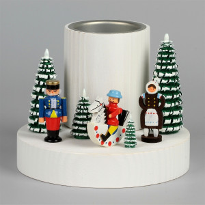 Teelichthalter mit Olbernhauer Marktfiguren