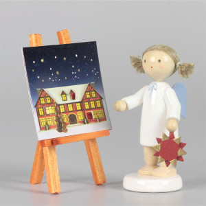 Engel mit Adventskalender