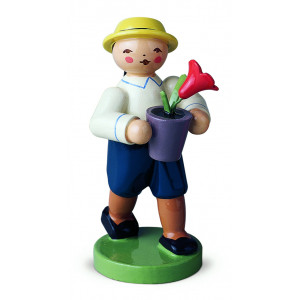Junge mit Blume