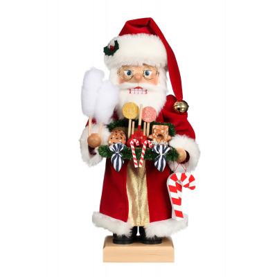 Nussknacker Weihnachtsmann mit Süßwaren