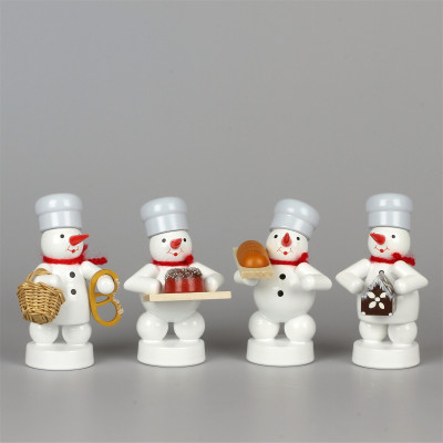 Schneemänner Weihnachtsbäckerei 3, 4-teilig