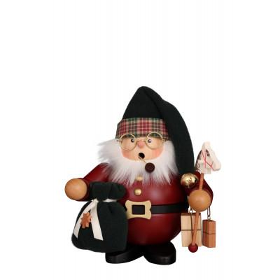 Räuchermännchen Weihnachtsmann dunkelrot