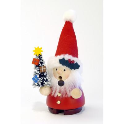 Räuchermännchen Weihnachtsmann mit Tannenbäumchen