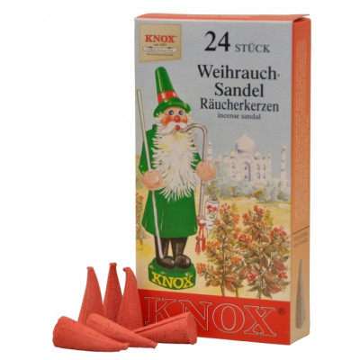 Räucherkerzen  - Klassisch Sandel 35g, 24 Stk. Packung
