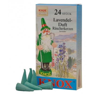Räucherkerzen  - blumig Lavendel  35g, 24 Stk. Packung