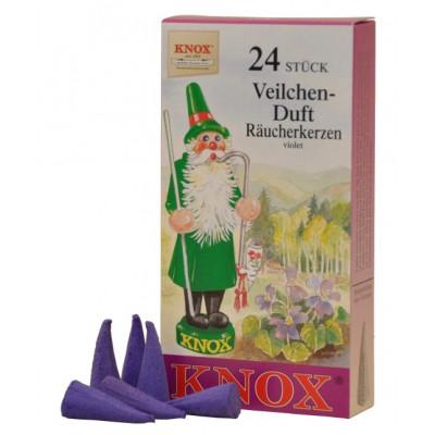 Räucherkerzen  - blumig Veilchen 35g, 24 Stk. Packung