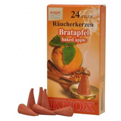 Räucherkerzen  - Gewürze - Bratapfel 35g, 24 Stk. Packung