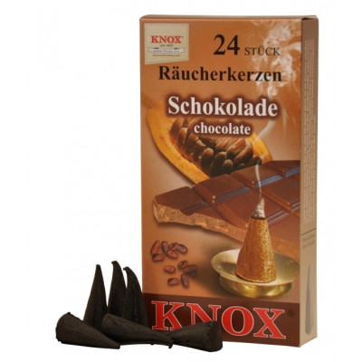 Räucherkerzen  - Gewürze Schokolade 35g, 24 Stk. Packung