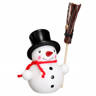 Schneemann mit Feger