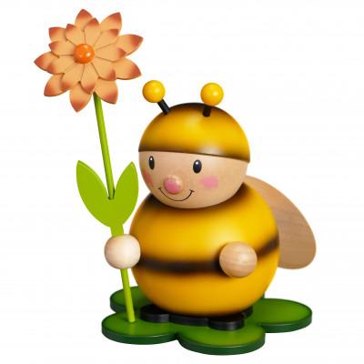 Hummel mit Blume rechts groß