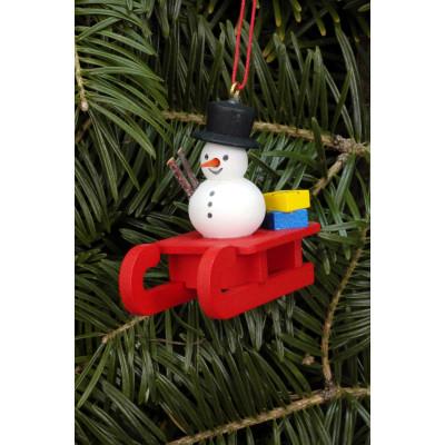 Baumbehang Schlitten mit Schneemann