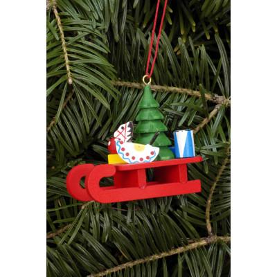 Baumbehang Schlitten mit Spielzeug