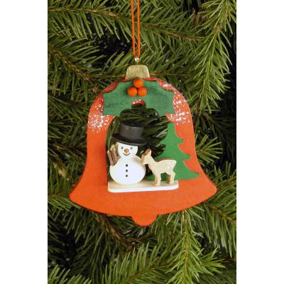 Baumbehang Glocke mit Schneemann