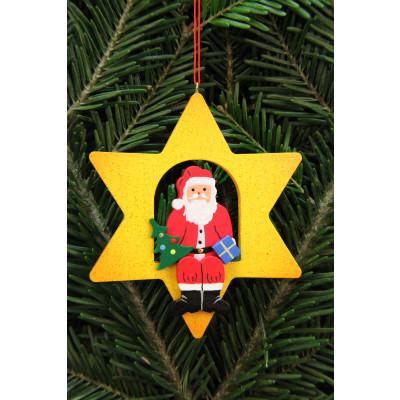 Baumbehang Weihnachtsmann im Stern