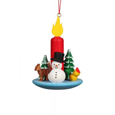 Baumbehang Kerze mit Schneemann