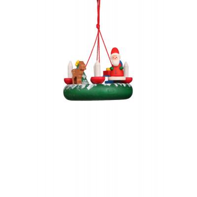 Baumbehang Kranz mit Weihnachtsmann