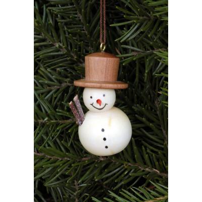Baumbehang als Schneemann natur