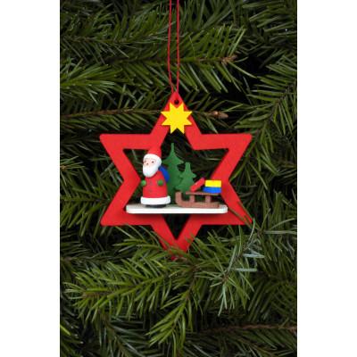 Baumbehang Weihnachtsmann im roten Stern