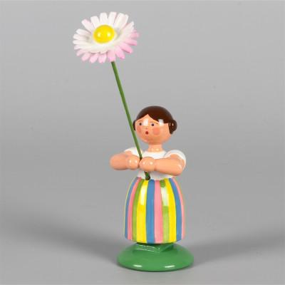 Blumenkind Mädchen mit Gänseblume