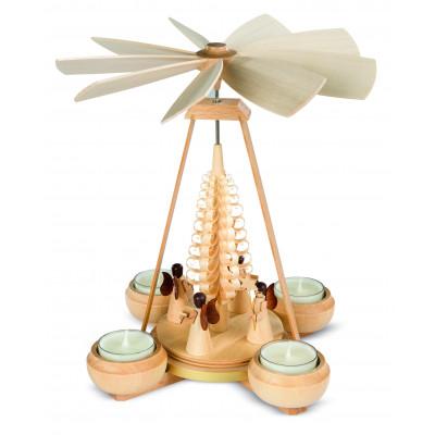 Teelichtpyramide Engel