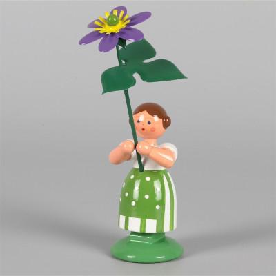Blumenkind Mädchen mit Leberblume