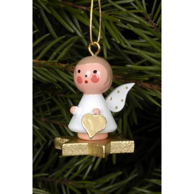 Baumbehang Engel auf goldenem Stern