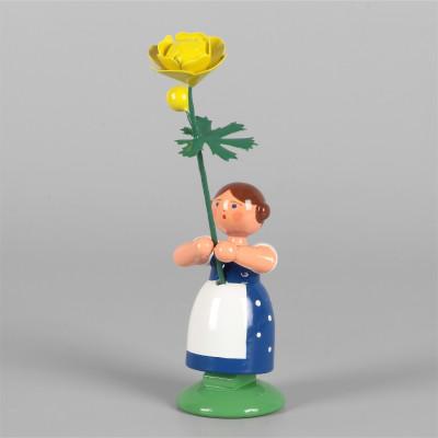 Blumenkind Mädchen mit Trollblume