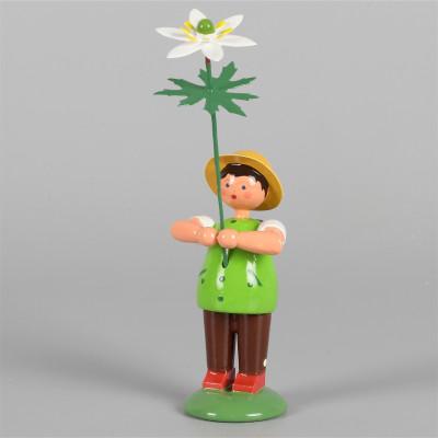 Blumenkind Junge mit Buschwindröschen