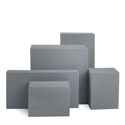 Deko-Set, 5-teilig, Klötze sägerau, grau